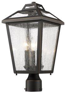 Bayland Outdoor Post Mount Light - 3 Light - Bronze