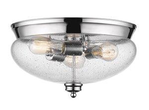 Amon Flush Mount - 3 Light - Chrome - 15
