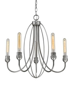 Persis Chandelier - 5 Light - Old Silver - 22