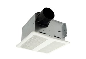Ventilateur de salle de bain, lumière et humidistat, 80 PCM
