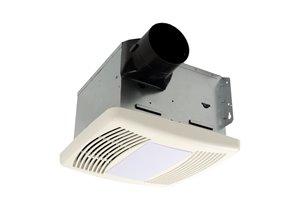 Ventilateur de salle de bain, lumière et humidistat, 150 PCM