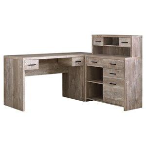 Bureau en bois recyclé, taupe