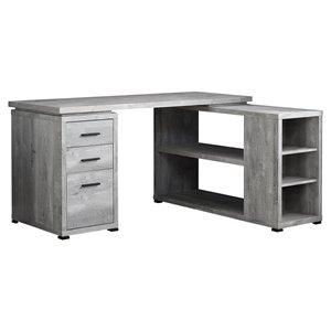 Reclaimed Wood Computer Desk  - Grey