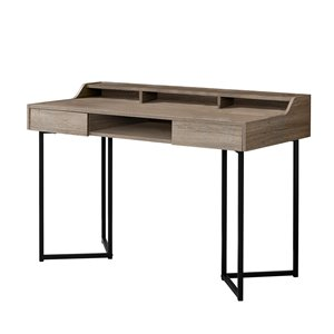Monarch  32.75-in x 48-in Dark Taupe Computer Desk