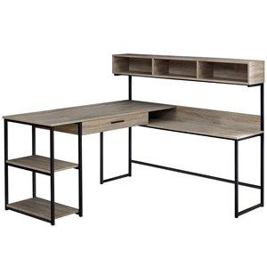 Computer Desk  - Dark Taupe