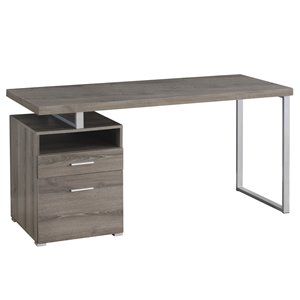 Monarch  30-in x 60-in Taupe Computer Desk
