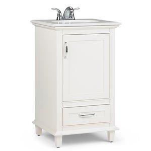 Meuble-lavabo Ariana , marbre quartz blanc, 20