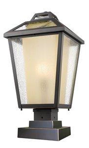 Memphis Outdoor Pier Mount Light - Bronze - 11