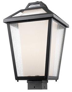 Memphis Outdoor Post Mount Light - Black - 11