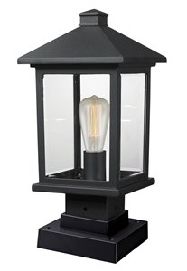 Portland Outdoor Pier Mount Light - Black - 8