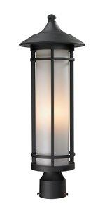 Woodland Outdoor Post Light - Black - 10