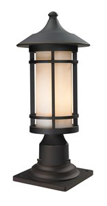 Woodland Outdoor Pier Mount Light - Bronze - 8.12