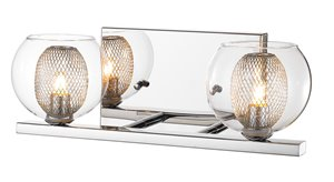 Auge 2-Light Vanity - Chrome