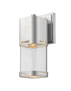 Lestat 1-Light Outdoor Wall Light - Brushed Aluminum