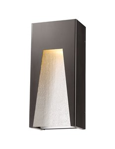 Millenial 1-Light Outdoor Wall Light - Bronze Silver