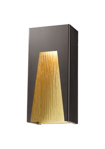 Millenial 1-Light Outdoor Wall Light - Bronze Gold