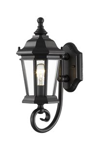 Melbourne 1-Light Outdoor Wall Light - Black