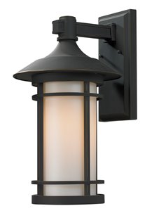 Woodland Outdoor Wall Light-n Oil Rubbed Bronze
