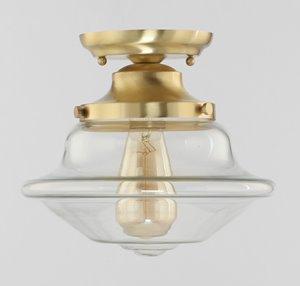 Flush Mount DE BURGH - Brushed Gold and Glass
