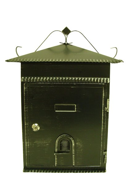 Fine Art Lighting Ltd. Rustic Black 13.5-in x 6-in x 17.5-in Mailbox