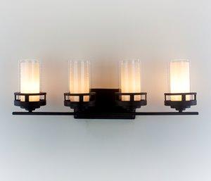 Madison 4-Light Vanity - Bronze - 28