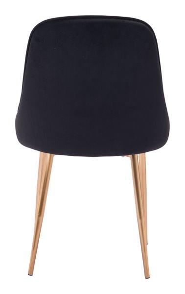 Zuo Modern Merritt Dining Chair - 20.1-in - Black Velvet - Set of 2