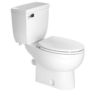 Toilette à cuvette allongée, blanc