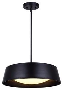 Luminaire suspendu DION, Noir, 17.75