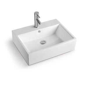 Luxo Marbre Rectangular Sink - 24.25