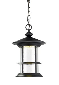 Genesis Outdoor LED Suspended Light - Black