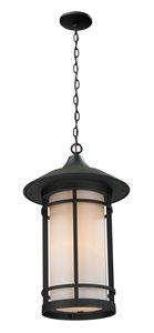 Luminaire suspendue extérieure Woodland, noir