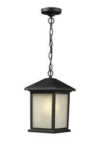 Luminaire suspendue extérieure Holbrook, noir