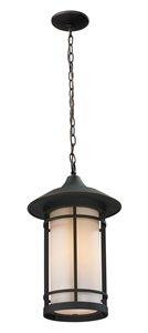 Luminaire suspendue extérieure Woodland, bronze huilé
