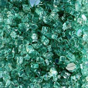 Reflective Fire Glass - 40 lbs - Green