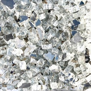 Reflective Fire Glass - 40 lbs - Clear