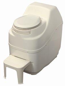 Toilette à compost électrique, grande capacité, beige