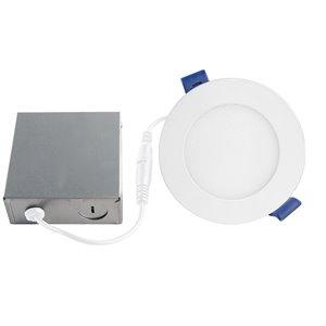 Disk Slim, luminaires encastrés à DEL, blanc, 4,25''