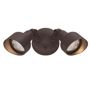 Lumière de sécurité DEL Double, bronze