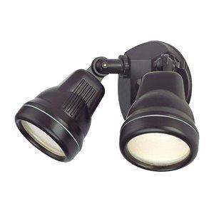 Cast Aluminum Adjustable 2-Light Floodlight in Bronze