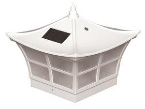 Capuchon de poteau solaire Ambience, PVC, blanc, 5