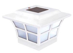 Capuchon de poteau solaire Prestige, PVC, blanc, 4