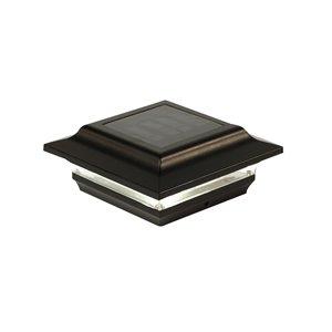Capuchon de poteau solaire Imperial, aluminium, noir,4