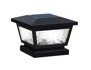 Capuchon de poteau solaire Fairmont, noir