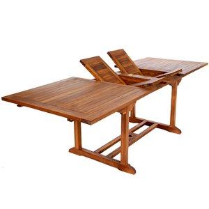 Teak Rectangle Extension Table