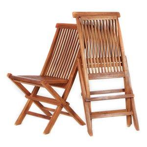 Teak Folding Chair - 2 Pieces