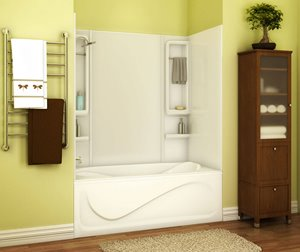 Finesse 61 in. x 34 in. x 59 in. Acrylic Tub Wall Kit