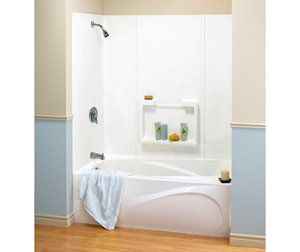 Finesse 61 in. x 34 in. x 59 in. Polystyrene Tub Wall Kit