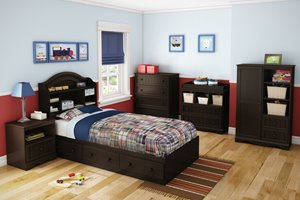 Savannah Mates Bed with 3 Drawers - Espresso
