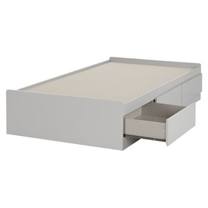 Cookie Mates Bed with 3 Drawers - Soft Gray