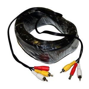Câble audio vidéo RCA , 100 pieds